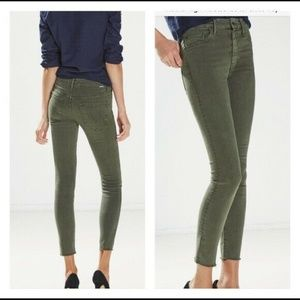 Mother High Waisted Fray Skinny Jeans